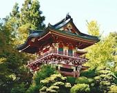 Red Pagoda Photo - San Francisco - Japanese Tea Garden -  8x10 - Fine Art Print