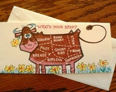 vintage cards ... Whats Your BEEF GET WELL retro Card w envelope ...