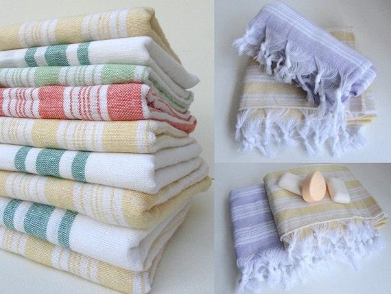 SET 2 Piece Turkish BATH Towel,striped,Lilac yellow,bath towel,turkish towels, beach towel, turkish bath towel, trends in summer ,spring