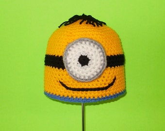 One Eyed Monster Hat. Beanie. (Any Sizes: Newborn to Adult). Please send the size.