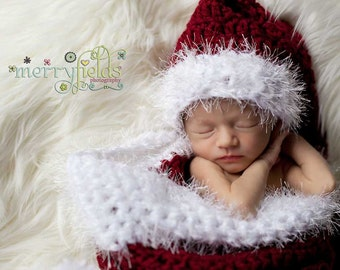 Crochet Pattern PDF Baby Santa Photography Set. (Sizes: Premium to 6 months). Permission to sell finished items.