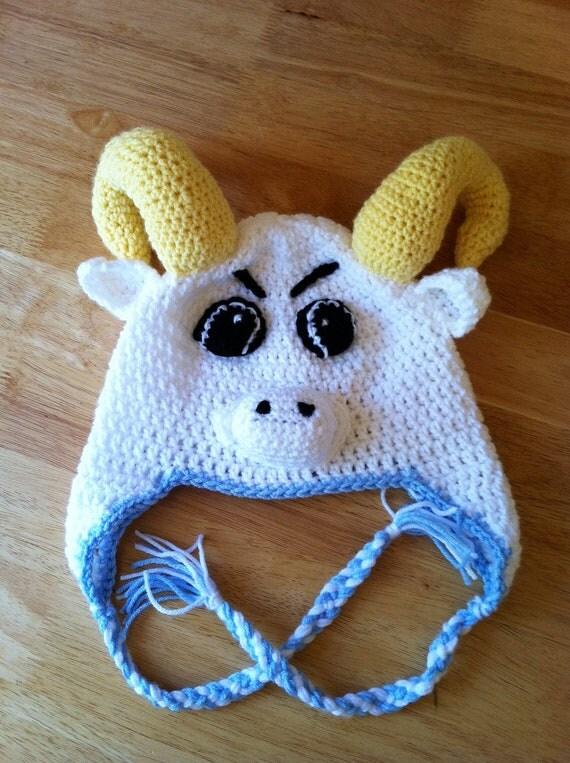 Carolina Blue Mascot Crochet Hat Tar Heels Baby/child size