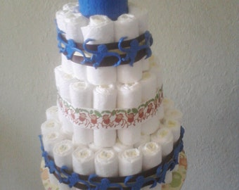 Barrel of Monkeys Diaper Cake