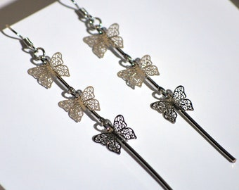 Butterfly Earrings - Metal Designs