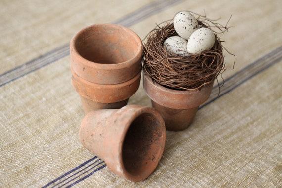 Antique Terra Cotta Pots, Set of 4