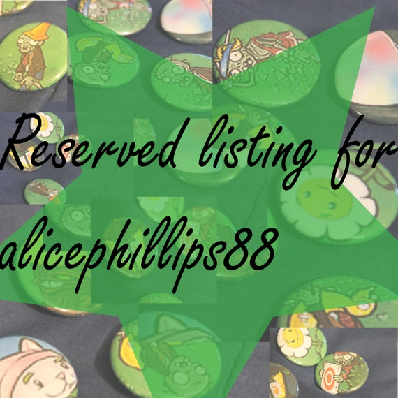 Reserved Plants Vs. Zombies Pinback Buttons for alicephillips88