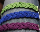 Wide Suede Braided Bracelet (3 Colors Available)