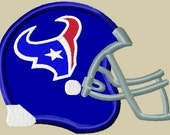 Texans Helmet logo Applique Embroidery Design 2 sizes