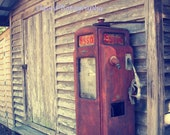 8x10 Old Gas Pump at Barn Photograph