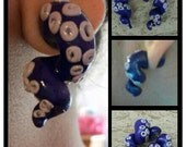 tentacle faux plug earrings