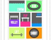 Printable Cards: Minimalist Games - SOLD SEPARATELY - Horizontal & Vertical 5x7 Prints - Digital Art - Printable Art