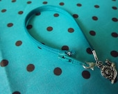 Zipper bracelet (teal)