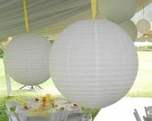 Set of 10 Assorted White Paper Party Lanterns
