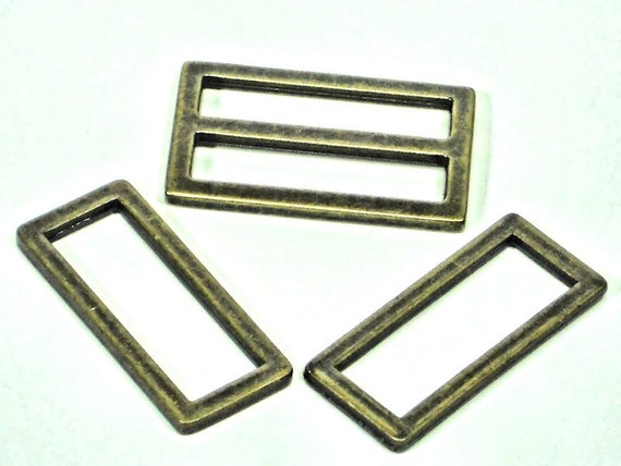 "6 pc Set of 1.5""  D-Rings & Sliders,  4 Rectangle D-Rings + 2 Sliders,  Purse Hardware Supplies @ MeiMei Supplies in USA"