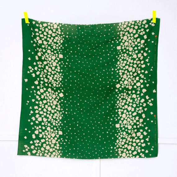 Nani Iro collection 2012 Peaceful Cooing MADOBE green double gauze japanese fabric 1/2 meter