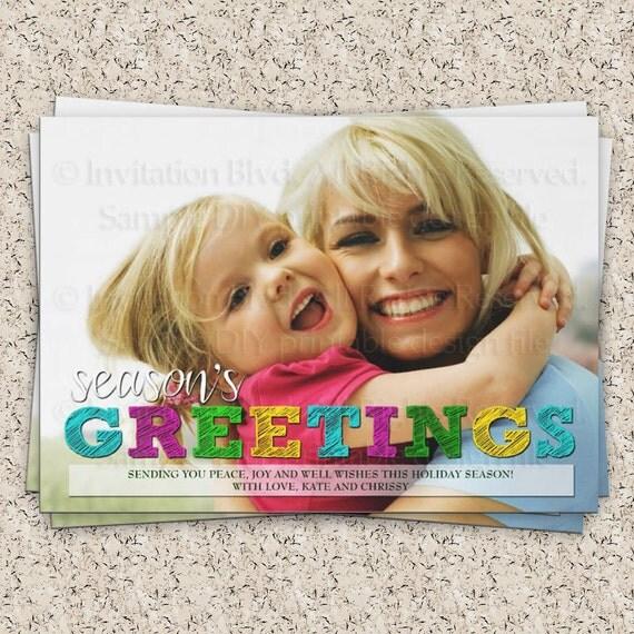 Christmas Card - Holiday Card - Photo Card - Christmas Photo Card - Holiday Photo Card - Christmas Greeting Card - Holiday Greeting Card