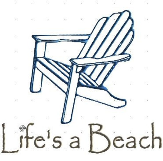 adirondack chair embroidery design