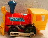 FISHER PRICE Toot Toot Push and Pull Toy 1960's