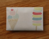 Ice Cream Envelope Card Holder Wallet