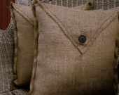 Burlap Pillow Cover (2pk)