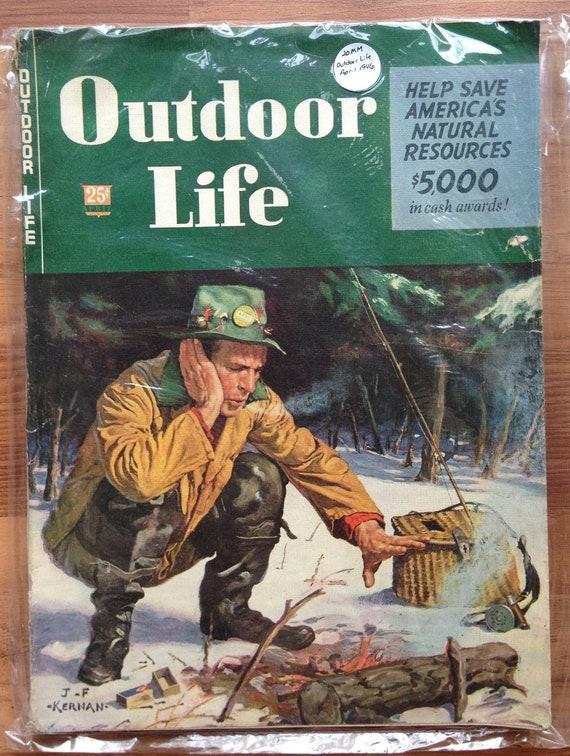 Vintage april 1946 outdoor life magazine hunting fishing trout for Hunting and fishing magazine