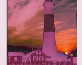Lilac Flames Lighthouse