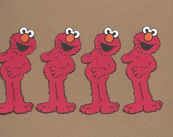 4- 4 inch tall Elmo Cricut Die Cuts