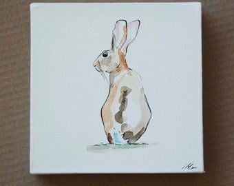 Hare Paintings on Canvas by Imogen Man