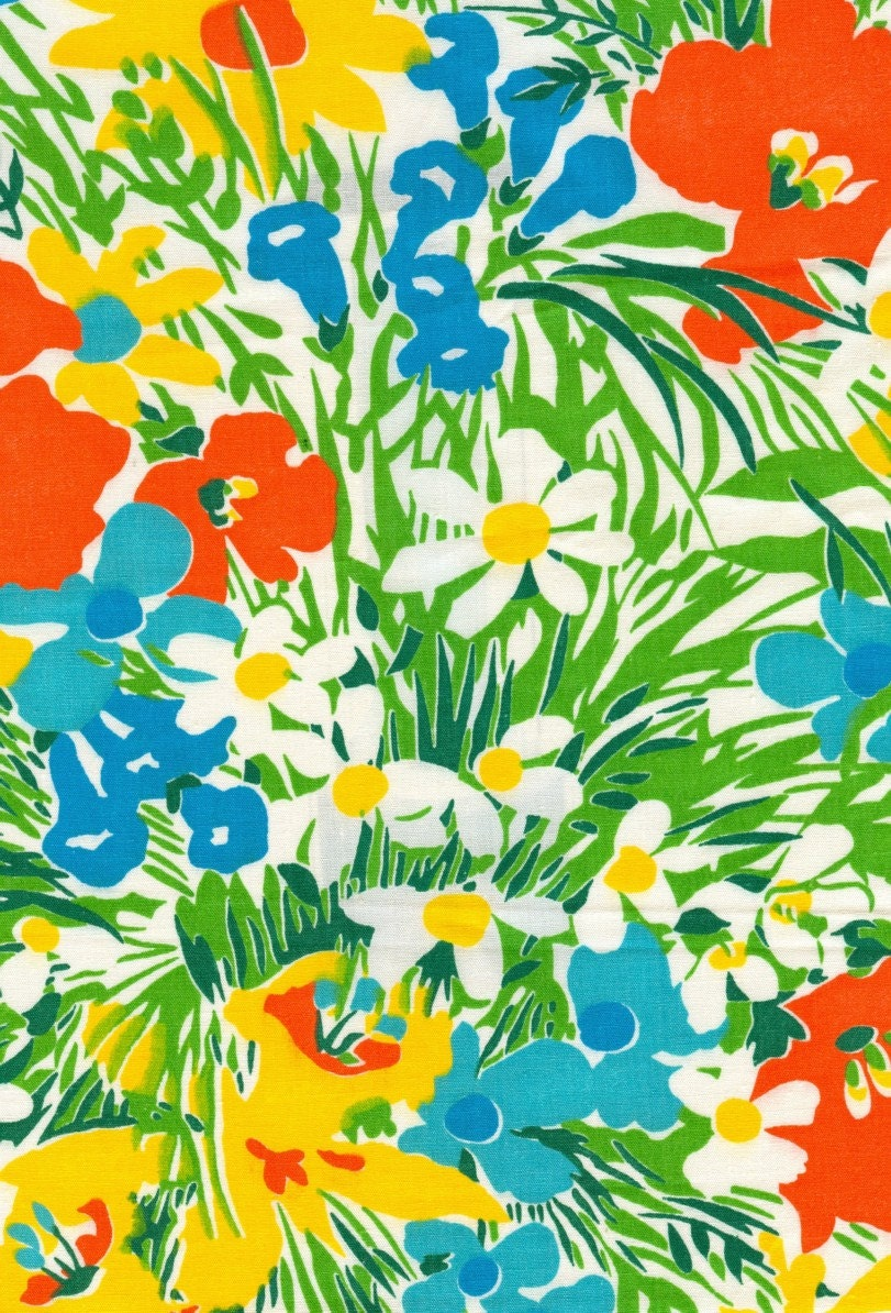 Vintage Floral Fabric 1 Yard