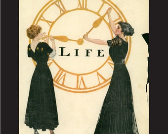 March 16, 1911 Original Life Magazine Cover, matted 9 x 11 inches, Coles Phillips artist