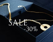 Necklace french jewelry 24k gold plated SUPERNOVA