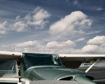 SALE - Cesna Airplane - 5x7 metallic print, prematted - photograph - home decor - gift for a pilot