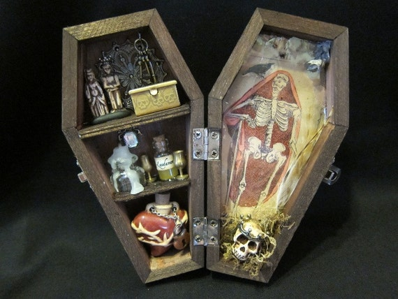 A Royal Death Casket -  Coffin Mixed Media Assemblage Box