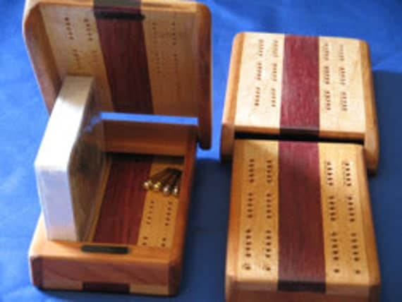 Two player cribbage board
