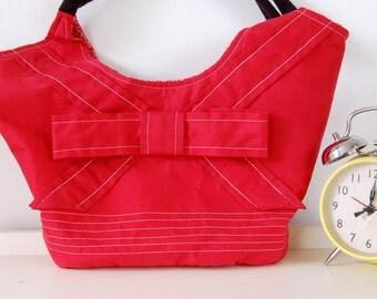 Red Shoulder Bag, Eco Bag, Tote