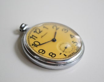 Vintage USSR clock MOLNIA pocket watch