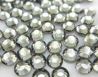 5mm 500  pieces Round Flat Back Rhinestones  ----  Dark Silver