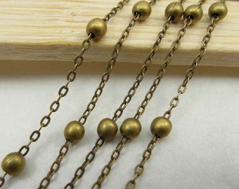 16ft (5m) 1.5mm Antique Brass Chains/ Jewelry Chain /Links /Ball Chains