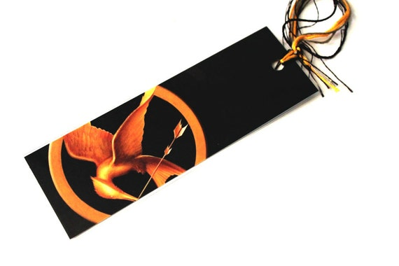 Hunger Games Laminated Bookmark 2x6 with String Tassel