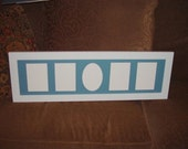 Large solid wood 8x30 matted baby boy picture photo craft name frame white finish multi use panoramic size display