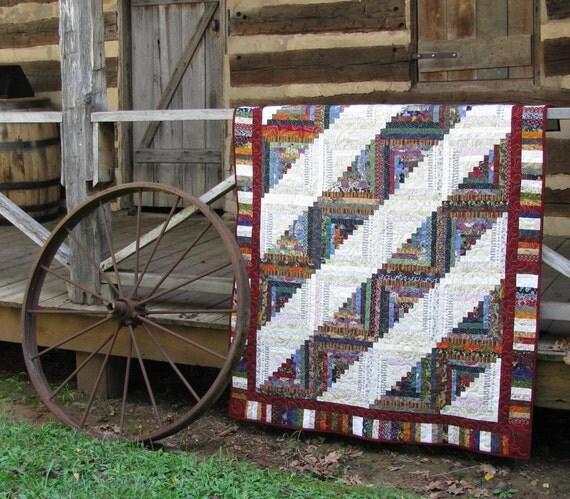 Log Cabin Lap Quilt