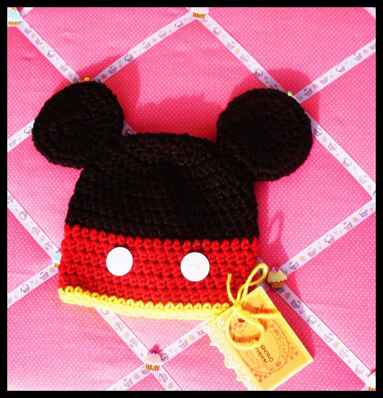 Free Crochet Pattern Mickey Hat : Crochet Pattern: Cute Mr. Mouse Hat