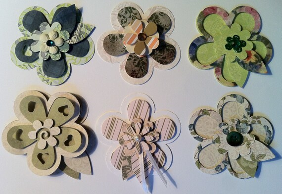 3D    30 - Paper Flower  Wedding Favors, Accents, Crafting Projects of Scrapbooking Flowers