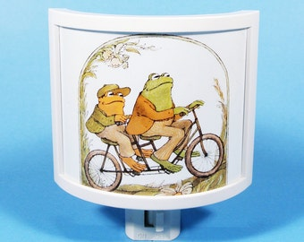 Frog and Toad Night Light vintage kids book Literary Gifts Under 20 Lobel frog lovers book themed nursery gifts for book lovers nightlights