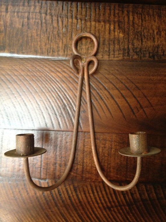 Antique Wall Sconce - Double Taper Candle