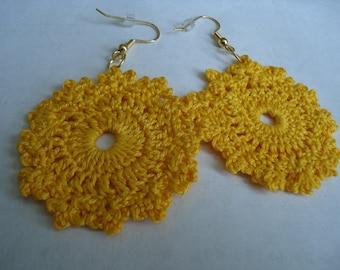 Circular Floral Inspired Earrings