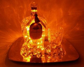 Crown Royal Light Up Liquor Bottle - Lighted Decorated Bottle / Lamp / Bar / Party / Night Light