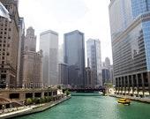 Fine art-Downtown Chicago- Architecture-River-Home Decor-Cityscape-