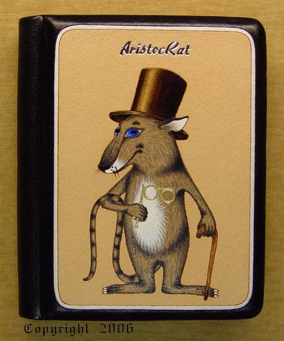 Handmade Leather Notebook AristocRat Rat