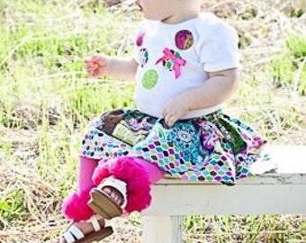 Girls Boutique Tutu Leggings- Tutu Leggings- Ruffle Leggings- Girls Ruffle Leggings- Girls Tutu Leggings- Size 18mo-up- the dottedduck